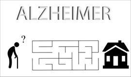 Enfermedad de Alzheimers Imagen de archivo libre de regalías