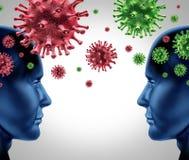 Enfermedad de virus contagiosa Foto de archivo