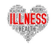 Enfermedad del concepto del corazón de la atención sanitaria de Wordcloud Fotografía de archivo