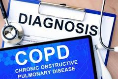 Enfermedad pulmonar obstructiva crónica (COPD) Fotos de archivo libres de regalías