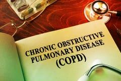 Enfermedad pulmonar obstructiva crónica COPD Imágenes de archivo libres de regalías