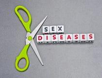 Enfermedades del sexo del corte imagen de archivo libre de regalías