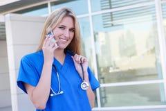 Enfermeira bonita no hospital Imagens de Stock Royalty Free
