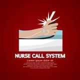 Enfermeira Call System Button ilustração stock