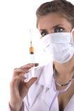 A enfermeira com seringa Fotografia de Stock Royalty Free