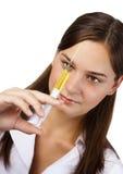 Enfermeira com seringa Foto de Stock Royalty Free