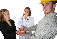 Enfermeira, construção, e Busin foto de stock royalty free