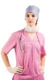 Enfermeira da beleza no uniforme Foto de Stock