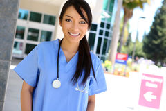Enfermeira da mulher no hospital Imagem de Stock Royalty Free
