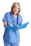 Enfermeira de sorriso imagens de stock royalty free