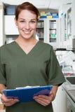 Enfermeira dental fotografia de stock