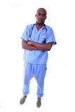 Enfermeira e comprimidos masculinos Fotografia de Stock Royalty Free