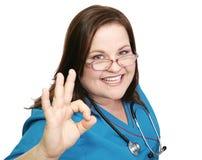 Enfermeira entusiástica - AOkay fotos de stock royalty free