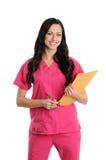 A enfermeira esfrega dentro Fotos de Stock Royalty Free