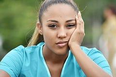 Enfermeira fêmea latino-americano And Sadness imagens de stock