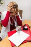 Enfermeira forçada fotografia de stock