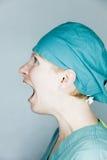 Enfermeira gritando Imagem de Stock Royalty Free