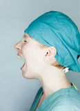 Enfermeira gritando Fotos de Stock Royalty Free