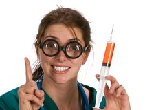 Enfermeira louca Imagens de Stock Royalty Free