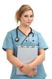 Enfermeira loura bonita fotografia de stock royalty free