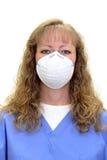 Enfermeira ou higienista dental que desgastam uma máscara Foto de Stock Royalty Free
