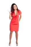 Enfermeira ou mulher do doutor que aponta o dedo Imagens de Stock Royalty Free