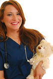 Enfermeira pediatra de sorriso imagem de stock royalty free
