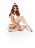 Enfermeira 'sexy' Fotografia de Stock