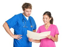 Enfermeiras e doutores médicos Fotos de Stock Royalty Free