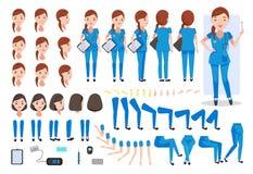 enfermera stock de ilustración
