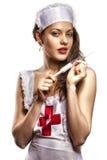 Enfermera atractiva Imagenes de archivo