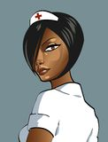 Enfermera atractiva ilustración del vector