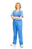 Enfermera con el estetoscopio Imagenes de archivo