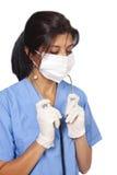 Enfermera con el estetoscopio foto de archivo