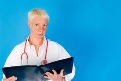 Enfermera con el estetoscopio Fotos de archivo