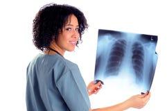 Enfermera con la radiografía Imagen de archivo libre de regalías