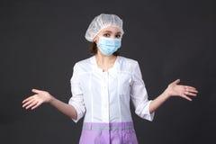 Enfermera confusa de los jóvenes Foto de archivo
