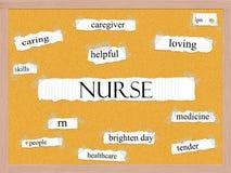 Enfermera Corkboard Word Concept Imagen de archivo libre de regalías