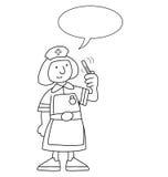 Enfermera de la historieta Imagen de archivo