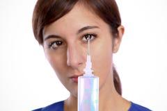 Enfermera de la jeringuilla Imagen de archivo libre de regalías