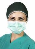 Enfermera de los jóvenes en la sala de operaciones Imagen de archivo libre de regalías