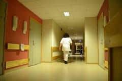 Enfermera de noche imágenes de archivo libres de regalías