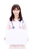 Enfermera de sexo femenino asiática joven Imagen de archivo