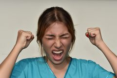 Enfermera de sexo femenino joven And Stress Fotografía de archivo libre de regalías