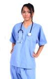 Enfermera de sexo femenino linda, doctor, trabajador médico fotos de archivo