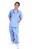 Enfermera de sexo femenino linda, doctor, trabajador médico Foto de archivo
