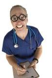 Enfermera de sexo masculino loca Fotografía de archivo