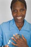 Enfermera del afroamericano Fotos de archivo libres de regalías