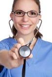 Enfermera del estetoscopio foto de archivo libre de regalías