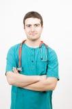 Enfermera del hombre Imagen de archivo libre de regalías